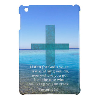 Proverbs 3 6 Listen for God s voice BIBLE VERSE iPad Mini Cover