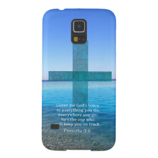 Proverbs 3:6 Listen for God's voice BIBLE VERSE Case For Galaxy S5