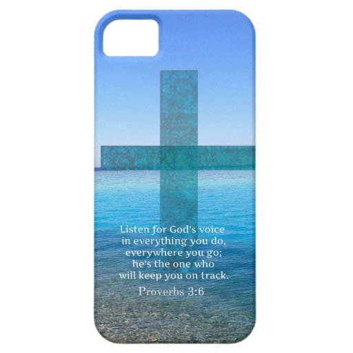 Proverbs 3:6 Listen for God's voice BIBLE VERSE Cover For iPhone 5/5S