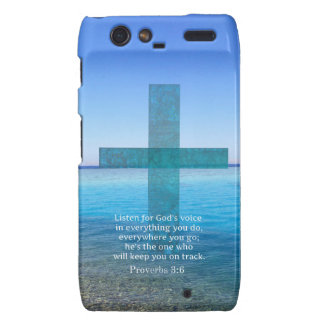 Proverbs 3:6 Listen for God's voice BIBLE VERSE Droid RAZR Cases