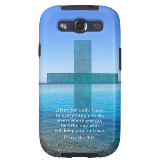 Proverbs 3:6 Listen for God's voice BIBLE VERSE Galaxy SIII Cases