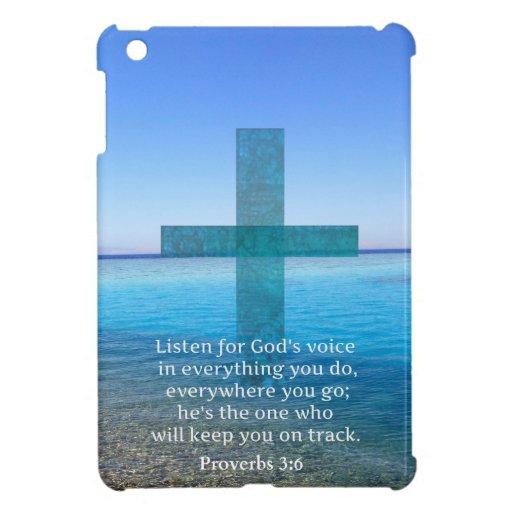 Proverbs 3:6 Listen for God's voice BIBLE VERSE iPad Mini Cover