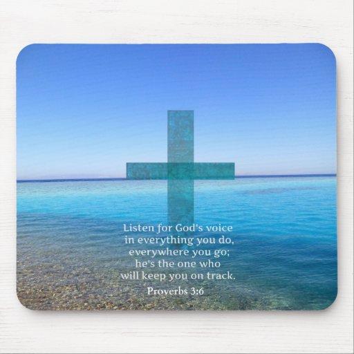 Proverbs 3:6 Listen for God's voice BIBLE VERSE Mousepad