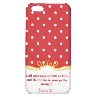 Proverbs 3:6  Modern Iphone case with Bible verse Case For iPhone 5C
