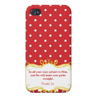 Proverbs 3:6  Modern Iphone case with Bible verse iPhone 4 Covers