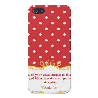 Proverbs 3:6  Modern Iphone case with Bible verse iPhone 5 Cases