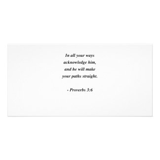 PROVERBS 3:6 PERSONALISED PHOTO CARD