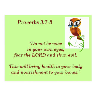 Proverbs 3:7-8 Scripture Memory Card