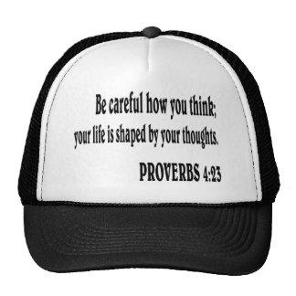 PROVERBS 4:23 Bible verse. Cap