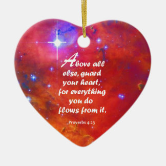 Proverbs 4:23 christmas ornament