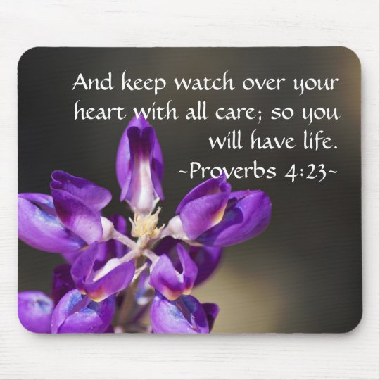 Proverbs 4:23 mouse pad
