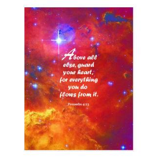 Proverbs 4:23 postcard