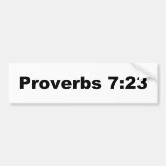 Proverbs 7:23 bumper sticker