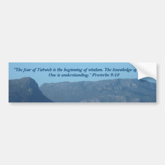 Proverbs 9:10 Bumper sticker