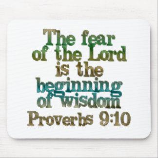 Proverbs 9:10 mouse mat