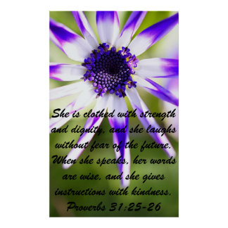 Proverbs bible verse for Mother's Day Poster