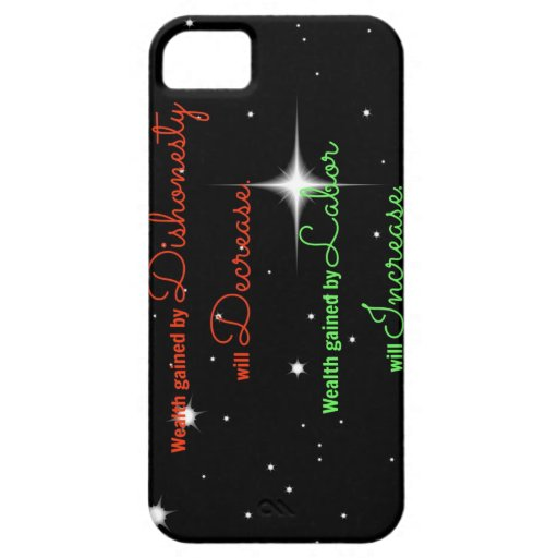 Proverbs Bible verse Wealth gained by dishonesty iPhone 5 Cover