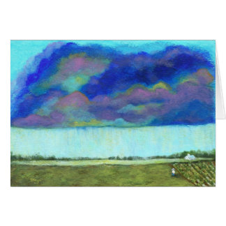 Providence Abstract Folk Art Landscape Painting Greeting Card