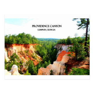 PROVIDENCE CANYON - Lumpkin, Georgia Postcard