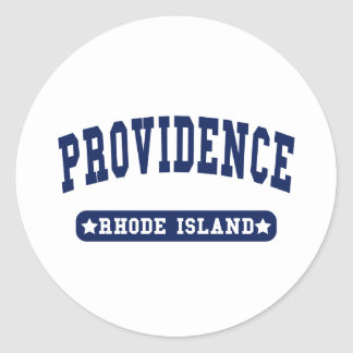 Providence Rhode Island College Style tee shirts Classic Round Sticker