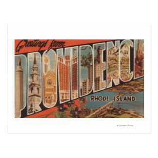 Providence, Rhode Island - Large Letter Scenes 2 Postcard
