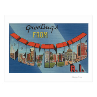 Providence, Rhode Island - Large Letter Scenes Postcard