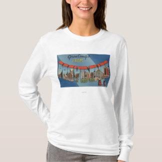 Providence, Rhode Island - Large Letter Scenes T-Shirt