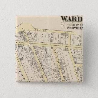 Providence Rhode Island Map 2 15 Cm Square Badge