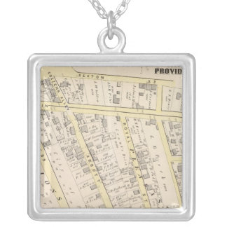 Providence Rhode Island Map 2 Silver Plated Necklace