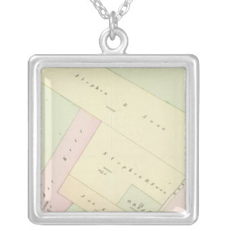 Providence Rhode Island Map Silver Plated Necklace