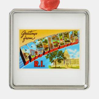 Providence Rhode Island RI Vintage Travel Souvenir Christmas Ornament