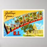 Providence Rhode Island RI Vintage Travel Souvenir Poster