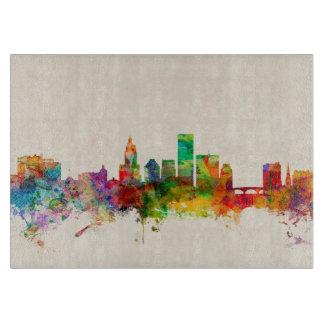 Providence Rhode Island Skyline Cityscape Cutting Board