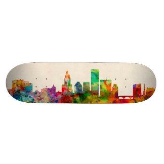 Providence Rhode Island Skyline Cityscape Skate Board Decks