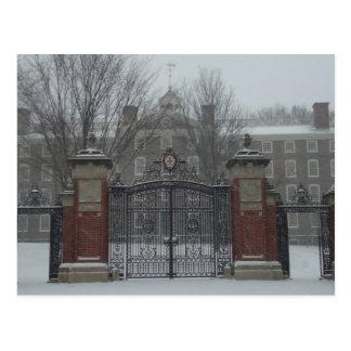 Providence, RI East Side Winter Scene Postcard