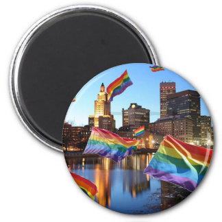 Providence, RI Flying Pride Magnet