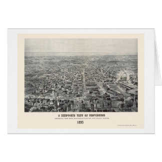Providence, RI Panoramic Map - 1894 Card
