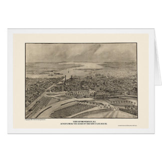 Providence, RI Panoramic Map - 1896 Card