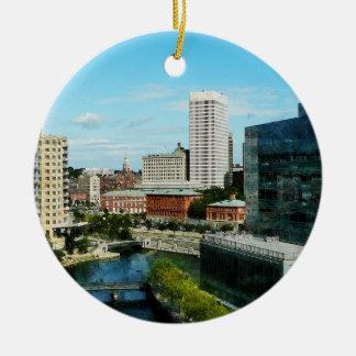 Providence RI Skyline Christmas Ornament