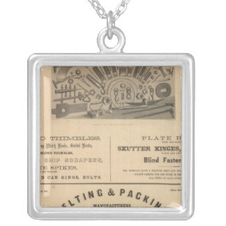 Providence Tool and Forge and Nut Company Square Pendant Necklace