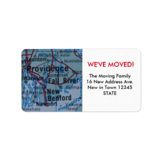 Providence We've Moved label Address Label