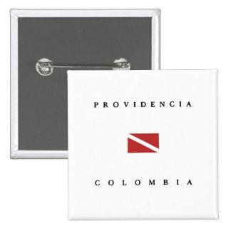 Providencia Island Colombia Scuba Dive Flag 15 Cm Square Badge