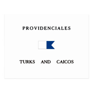 Providenciales Turks and Caicos Alpha Dive Flag Post Card