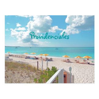 """""""PROVIDENCIALES /TURKS&CAICOS ISLANDS"""" POSTCARD"""
