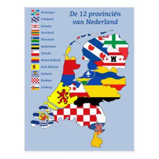 Province flag on folder the Netherlands Postcard