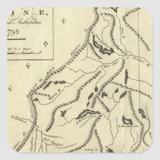 Province of Maine Square Sticker
