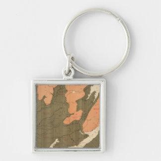 Province of Nova Scotia Island of Cape Breton 11 Silver-Colored Square Key Ring