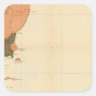 Province of Nova Scotia Island of Cape Breton 4 Square Sticker