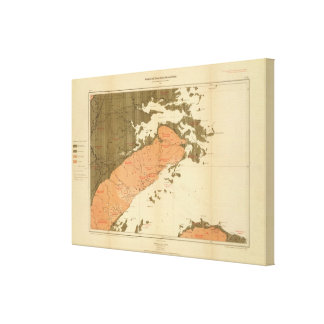 Province of Nova Scotia Island of Cape Breton 6 Canvas Print