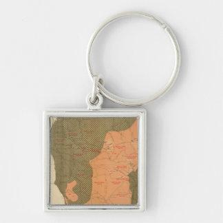 Province of Nova Scotia Island of Cape Breton 7 Silver-Colored Square Key Ring